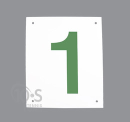 Green Number on White Background