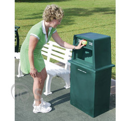 Trash Receptacles & Tennis Ball Recycle Bins