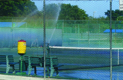 Har-Tru (Clay) Tennis Courts with sprinkler irrigation