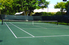 Har-Tru (Clay) Tennis Courts with subsurface irrigation system