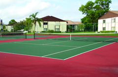 hard court tennis court surface