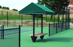 Tennis Court Shade Shelter